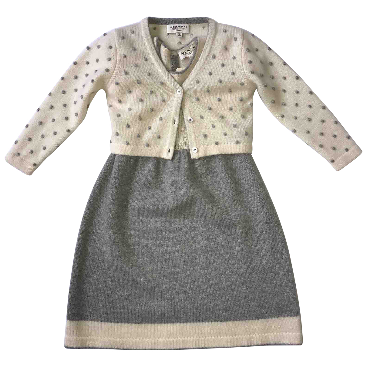 Autre Marque N Beige Cashmere Outfits for Kids 3 years - up to 98cm FR