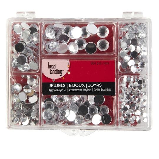 Bead Landing™ Assorted Acrylic Jewel Set, Clear | Michaels®