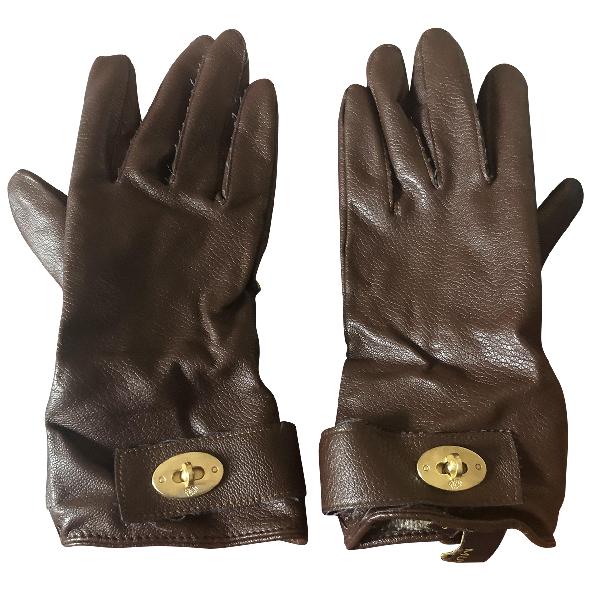 Mulberry \N Brown Cotton Gloves for Women S International