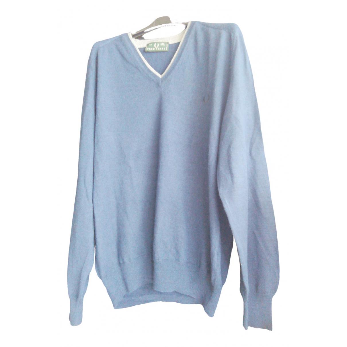 Fred Perry \N Pullover.Westen.Sweatshirts  in  Blau Wolle