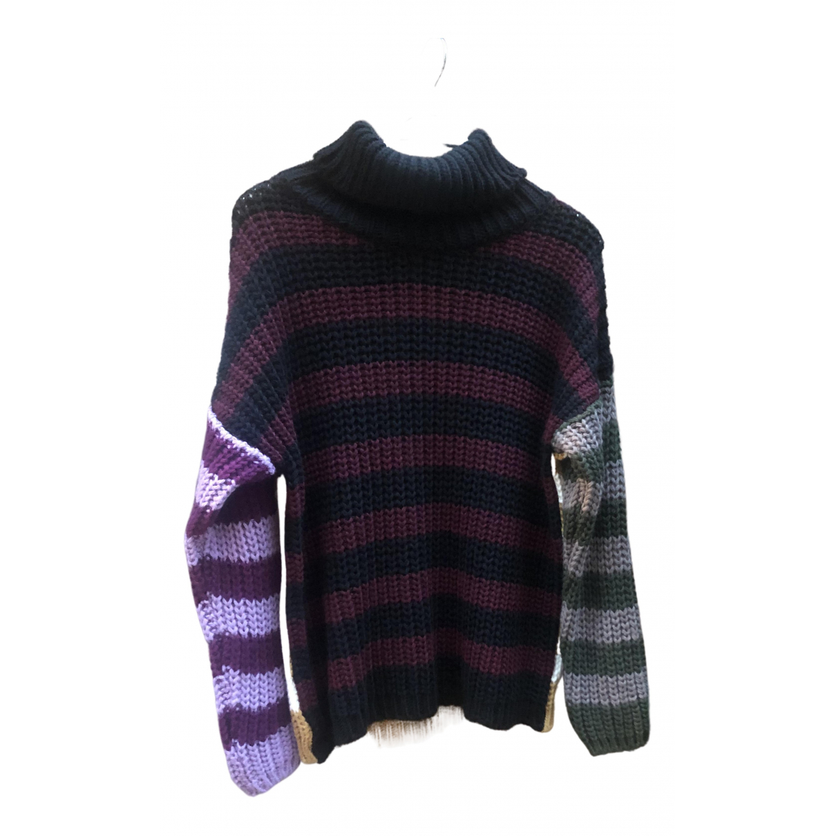 Non Signe / Unsigned Hippie Chic Pullover in  Schwarz Polyester