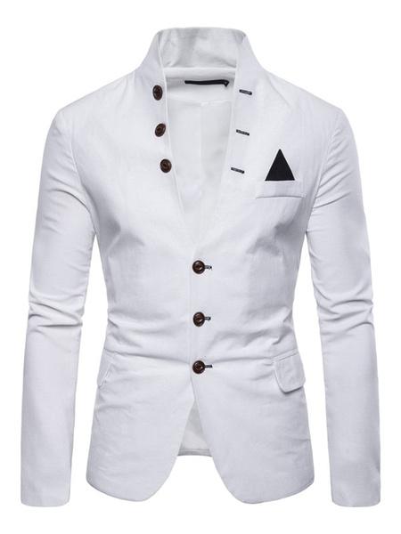 Milanoo Chaquetas de trajes de un solo pecho para hombres