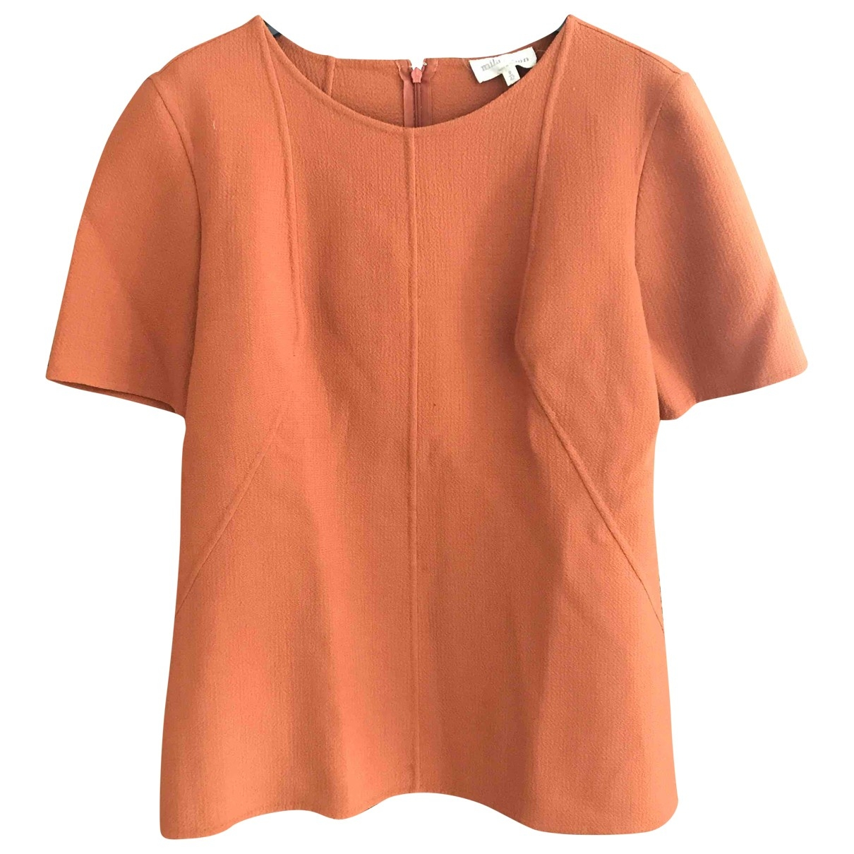 Mila Schön Concept \N Orange Wool  top for Women 42 IT