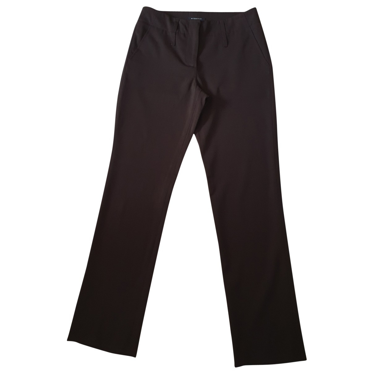 Burberry \N Brown Wool Trousers for Women 4 UK