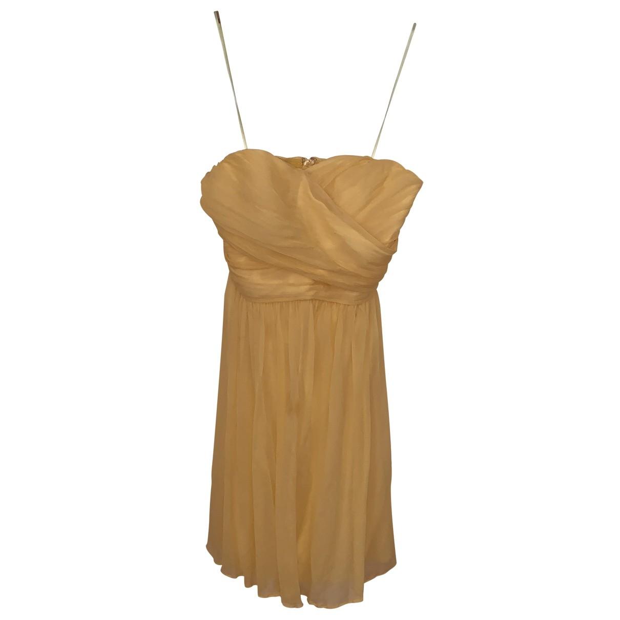 J.crew - Robe   pour femme en soie - jaune