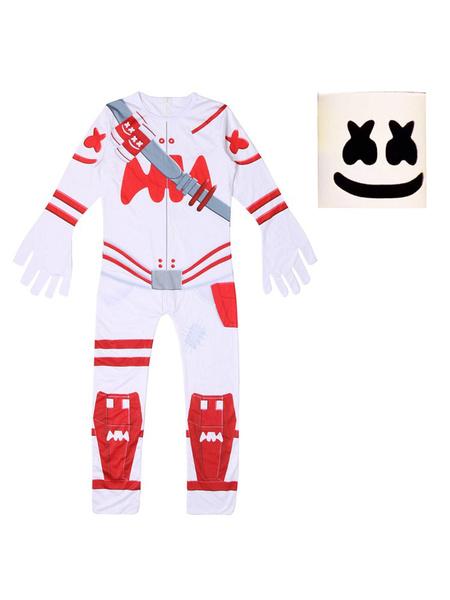 Milanoo Fortnite Battle Royale Marshmellow Jumpsuit Cosplay Disfraces Halloween