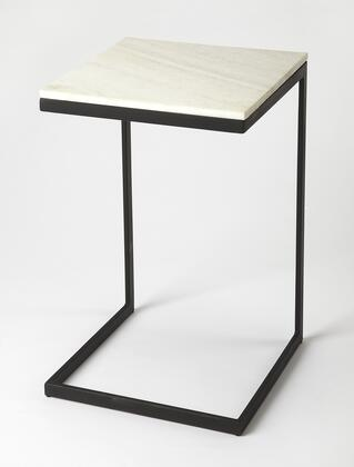 Lawler Collection 9349295 End Table with Modern Style  Square Shape and Iron Metal Material in Black