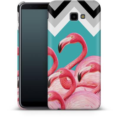 Samsung Galaxy J4 Plus Smartphone Huelle - Flamingo Pattern von Mark Ashkenazi