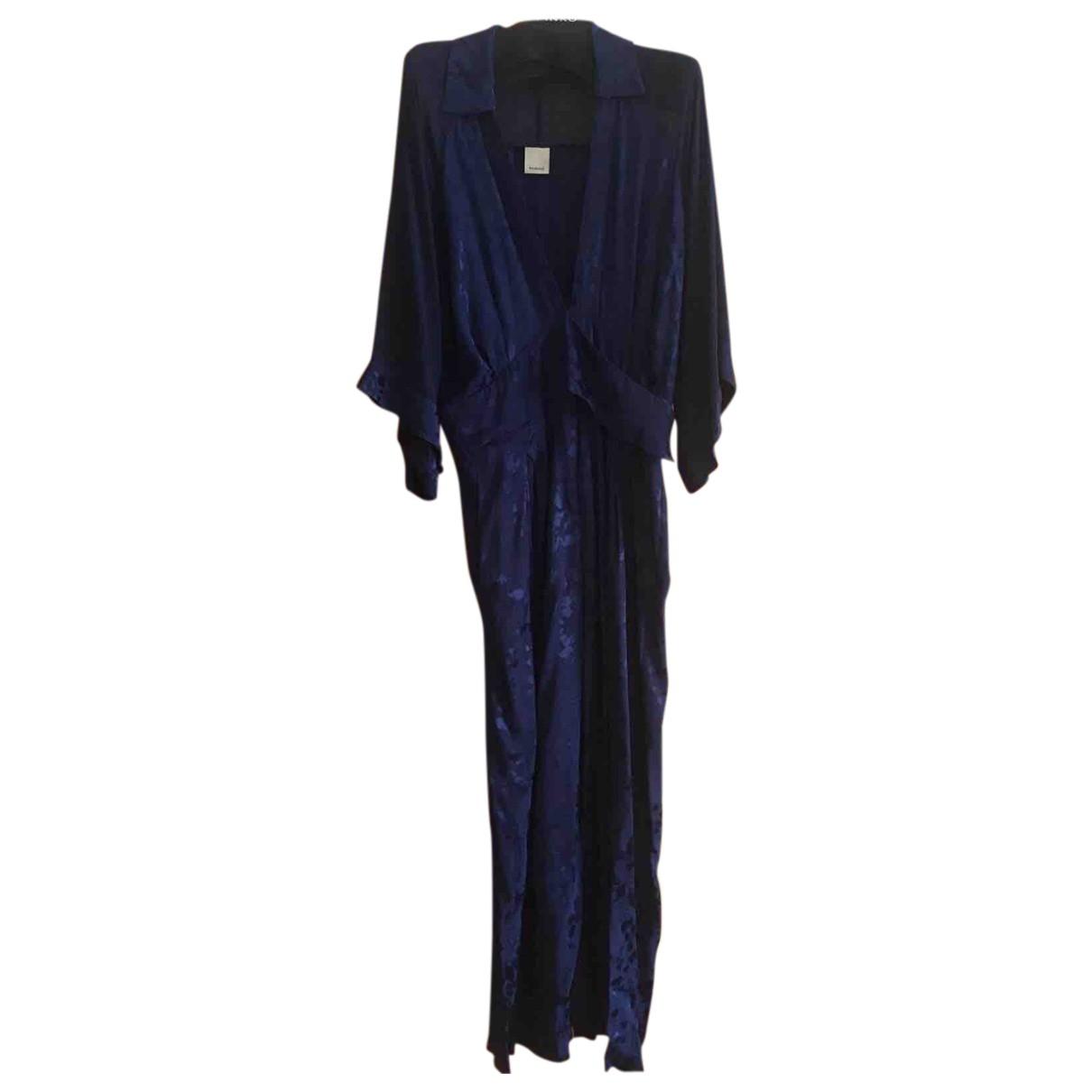 Pinko - Combinaison   pour femme en soie - bleu