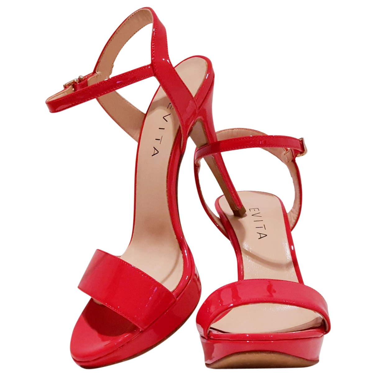 Non Signé / Unsigned \N Red Patent leather Heels for Women 38 EU