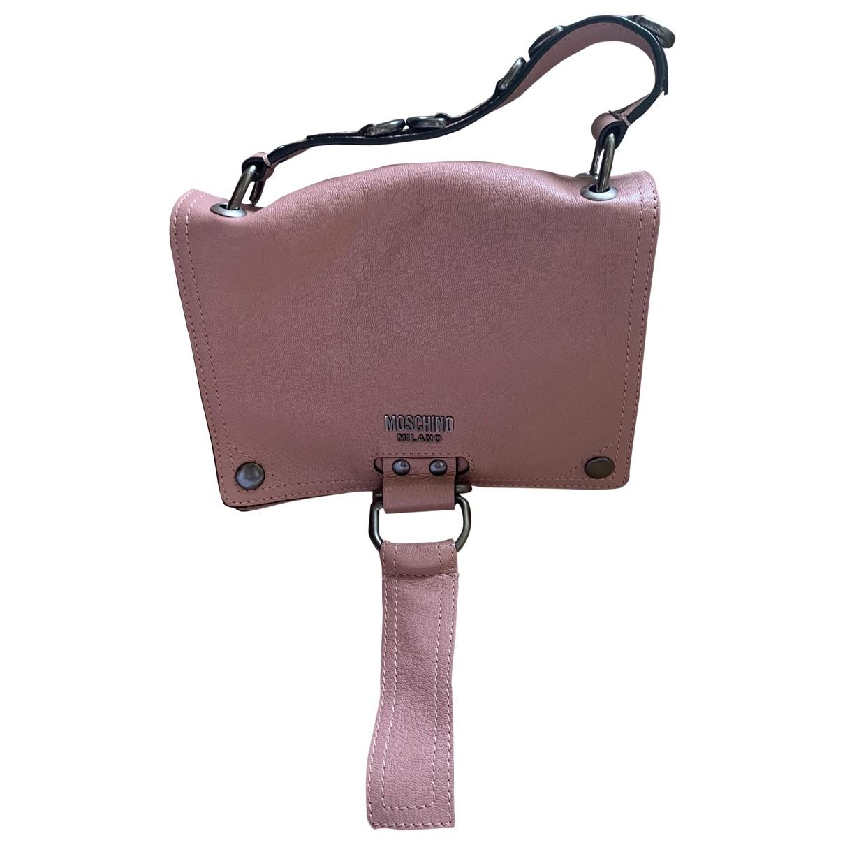 Moschino \N Handtasche in  Rosa Leder
