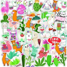 50pcs Alpaca Print Sticker