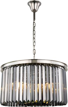 1238D26PN-SS/RC 1238 Sydney Collection Chandelier D:26In H:13.5In Lt:8 Polished Nickel Finish (Royal Cut