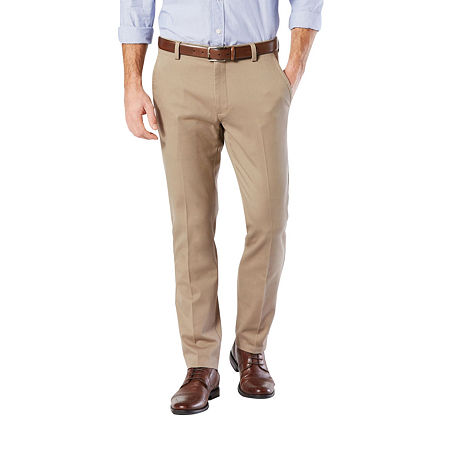 Dockers Men's Slim Fit Easy Khaki with Stretch Pants, 34 30, Brown