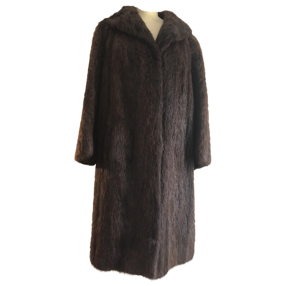Non Signé / Unsigned \N Brown Beaver coat for Women M International