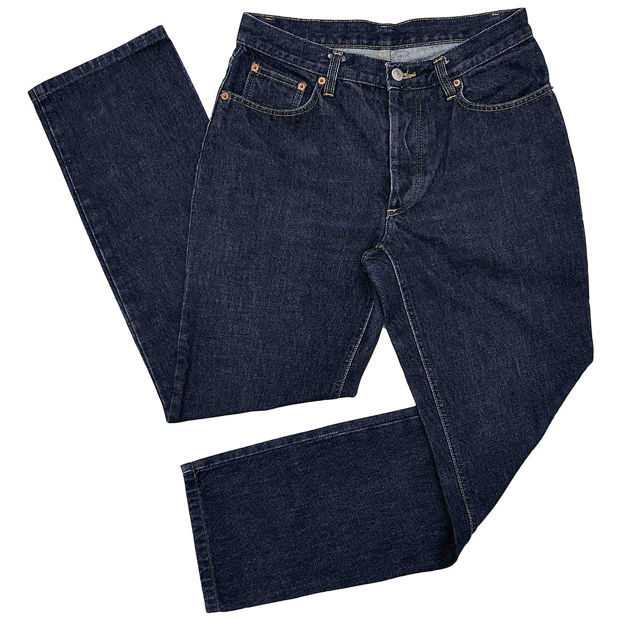 Helmut Lang N Blue Cotton Jeans for Men 30 US