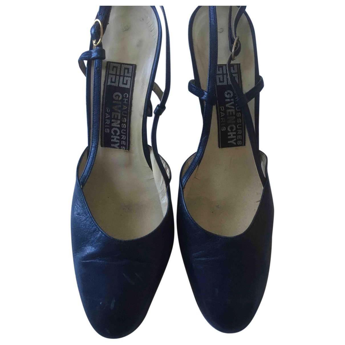 Givenchy \N Navy Leather Heels for Women 36.5 EU
