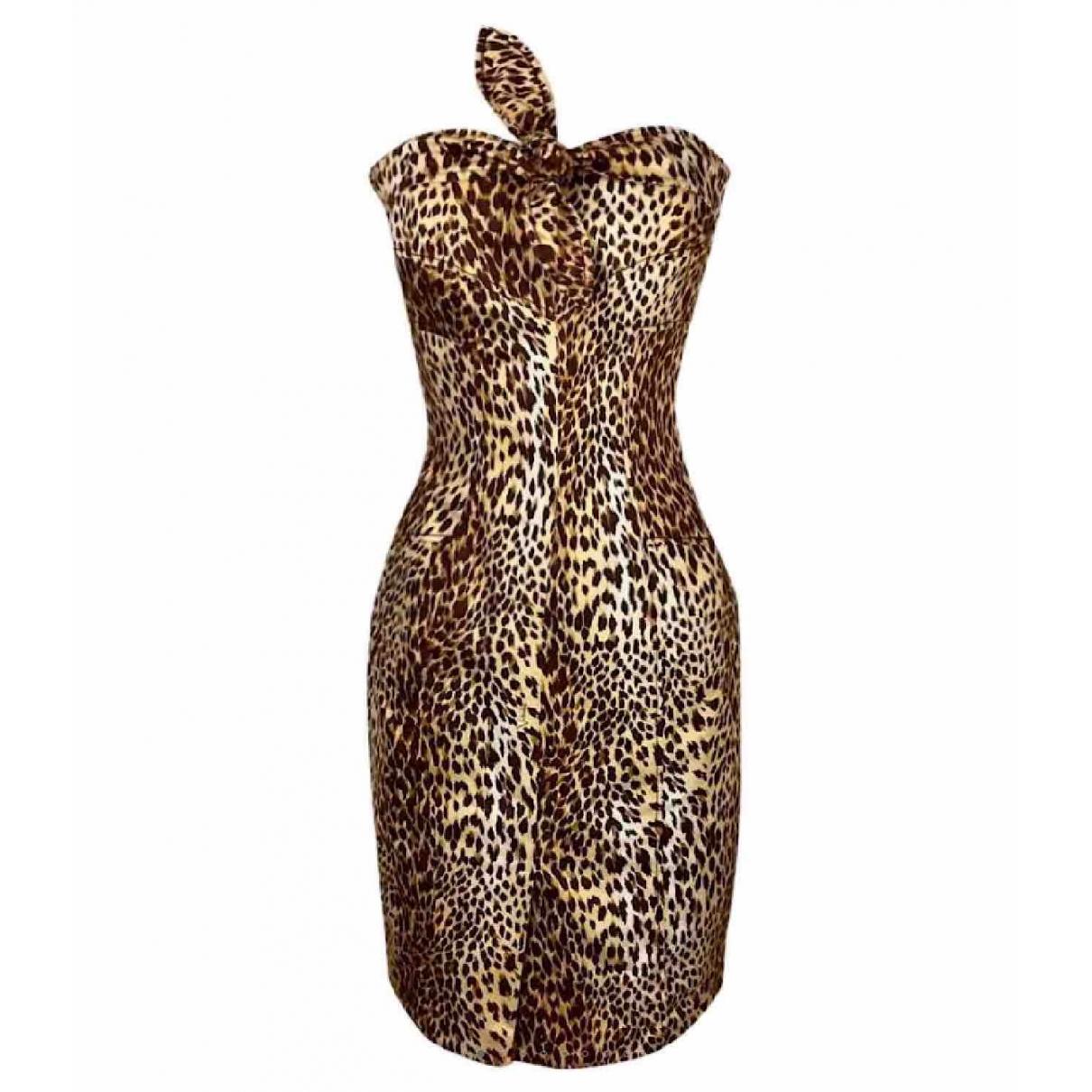 Valentino Garavani \N Kleid in  Braun Baumwolle - Elasthan