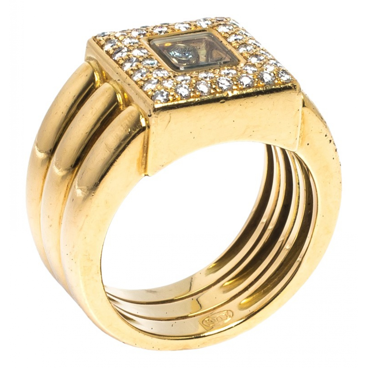 Chopard Happy Diamonds Ring in Gelbgold