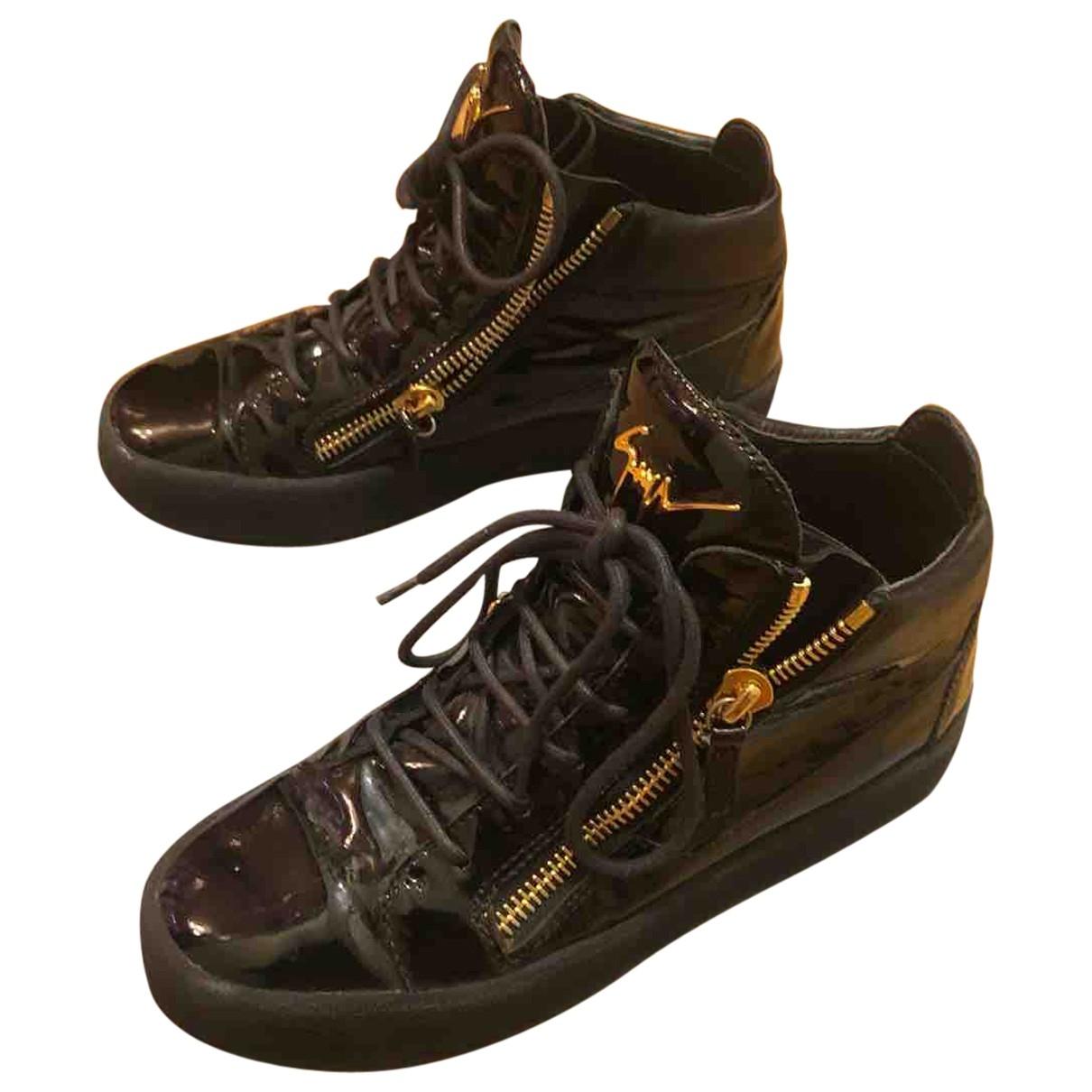 Giuseppe Zanotti - Baskets Nicki pour femme en cuir verni - noir
