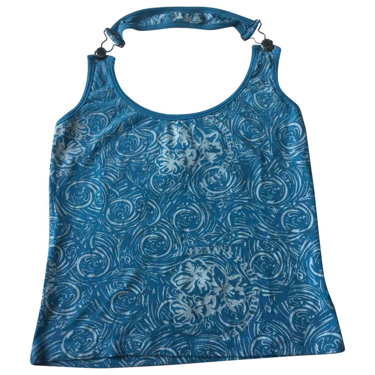 Jean Paul Gaultier - Top   pour femme en coton - bleu