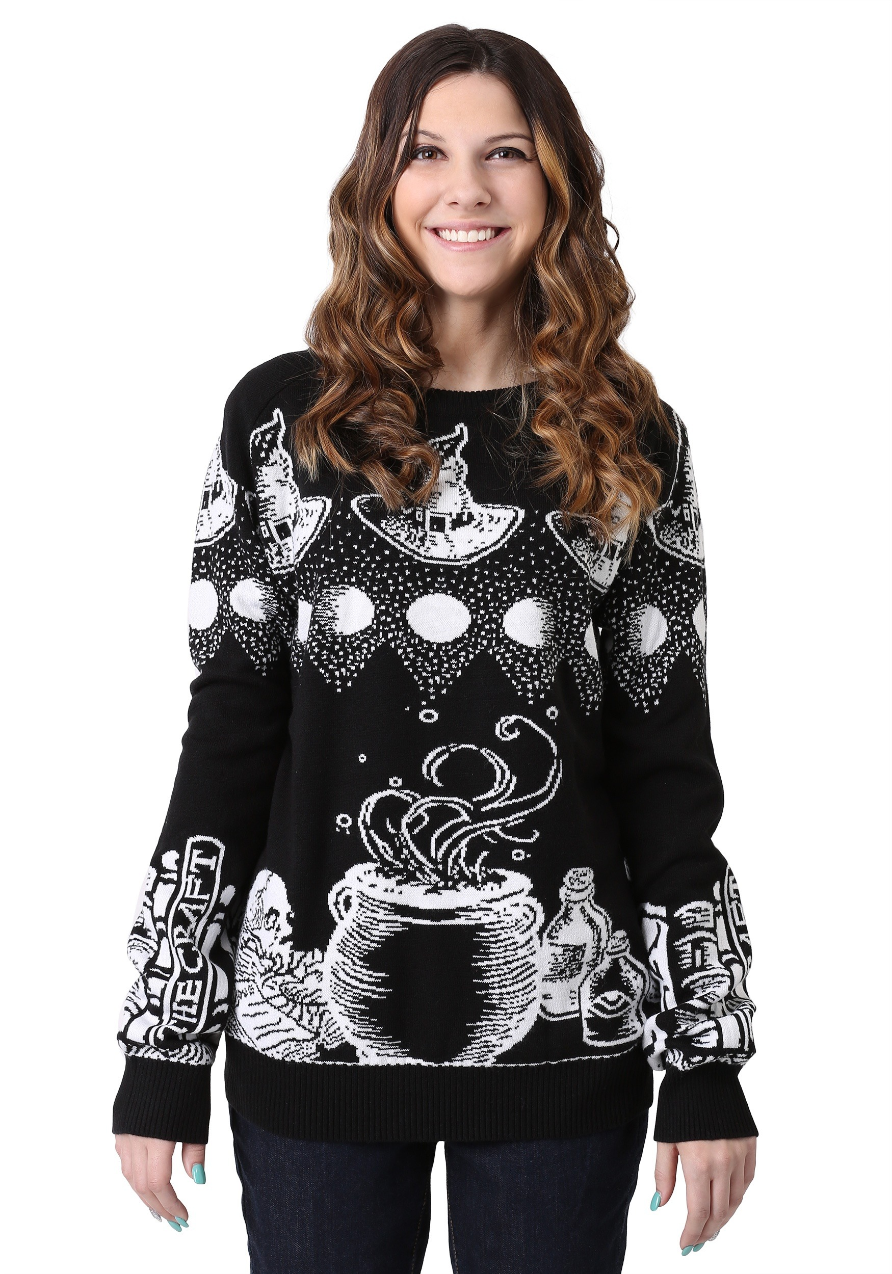 Witch Spellcraft and Curios Ugly Halloween Sweater | | Spooky Sweater