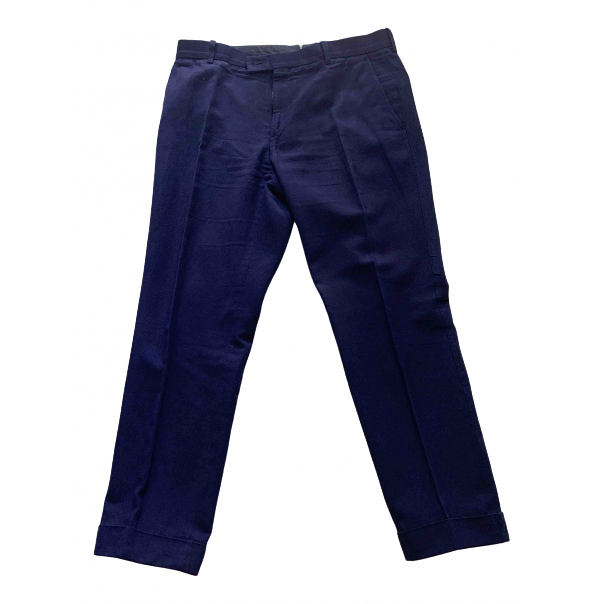 Tom Ford \N Blue Cotton Trousers for Men XL International
