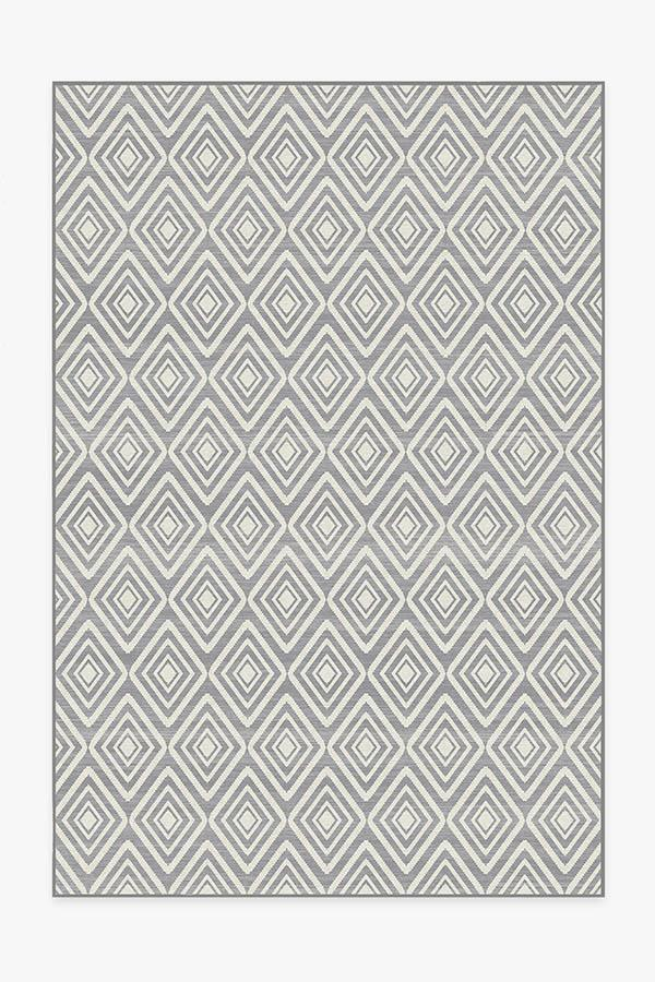 Washable Rug Cover & Pad | Diamond Grey Rug | Stain-Resistant | Ruggable | 6'x9'