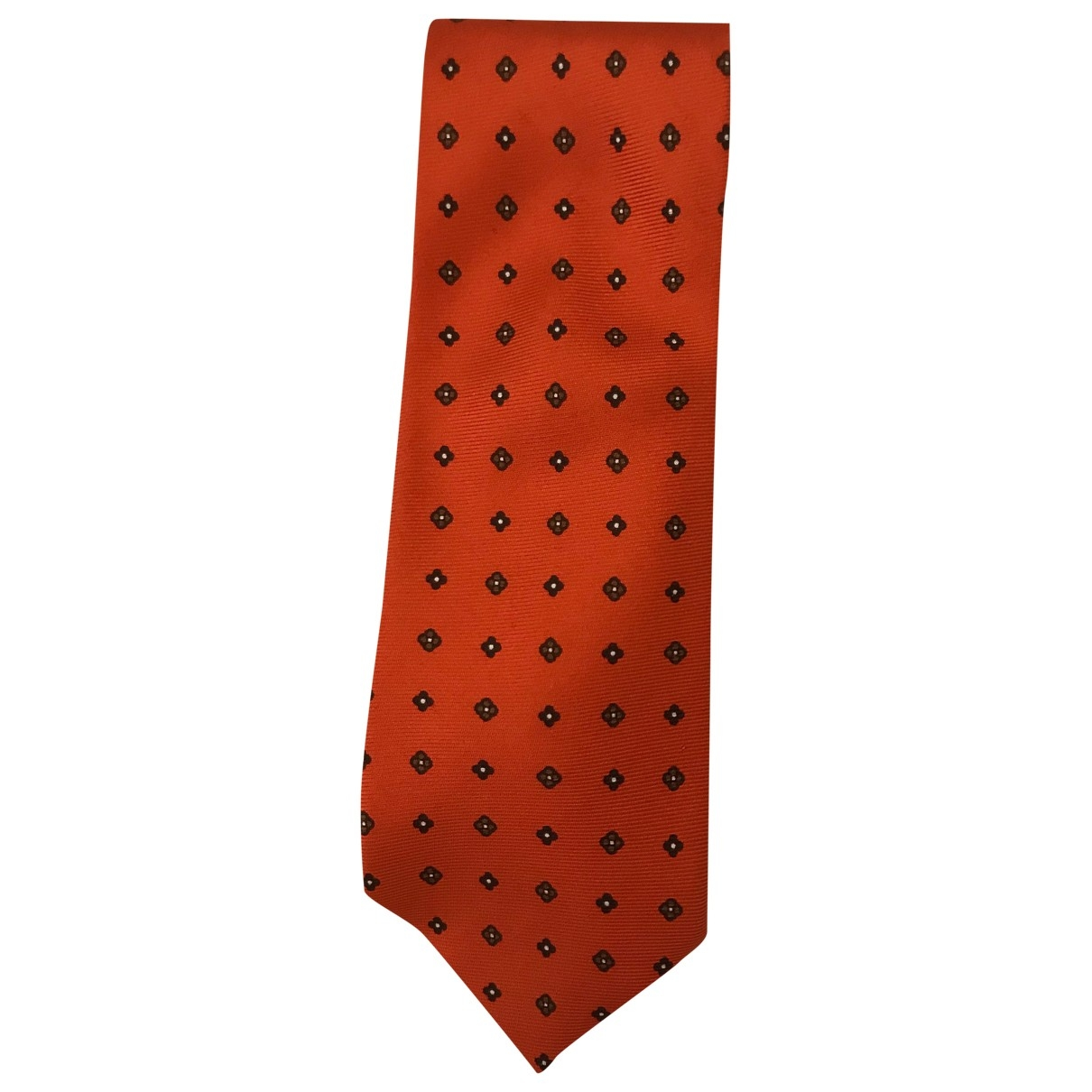 Boggi \N Krawatten in  Orange Seide