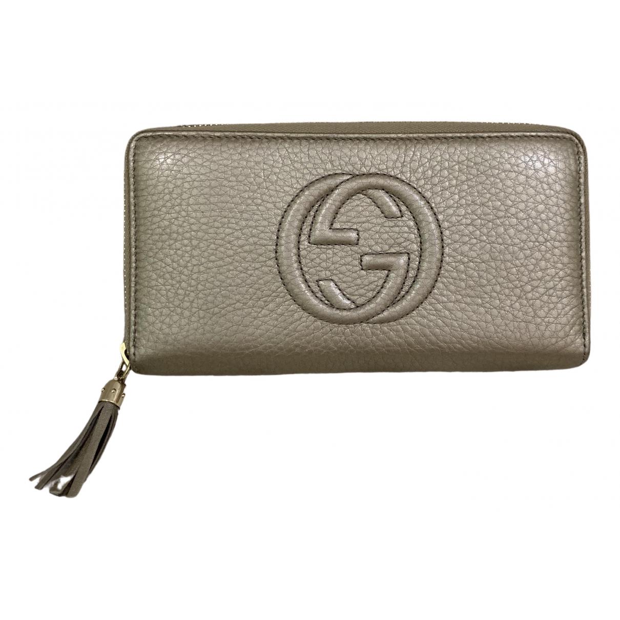 Gucci Soho Metallic Leather wallet for Women \N