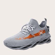 Maenner Sneakers mit chinesischen Schriften Grafik
