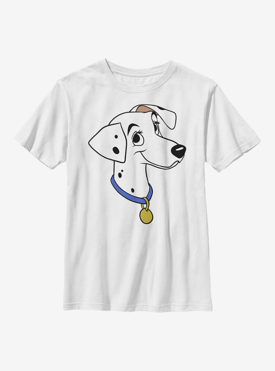 Disney 101 Dalmatians Perdita Big Face Youth T-Shirt