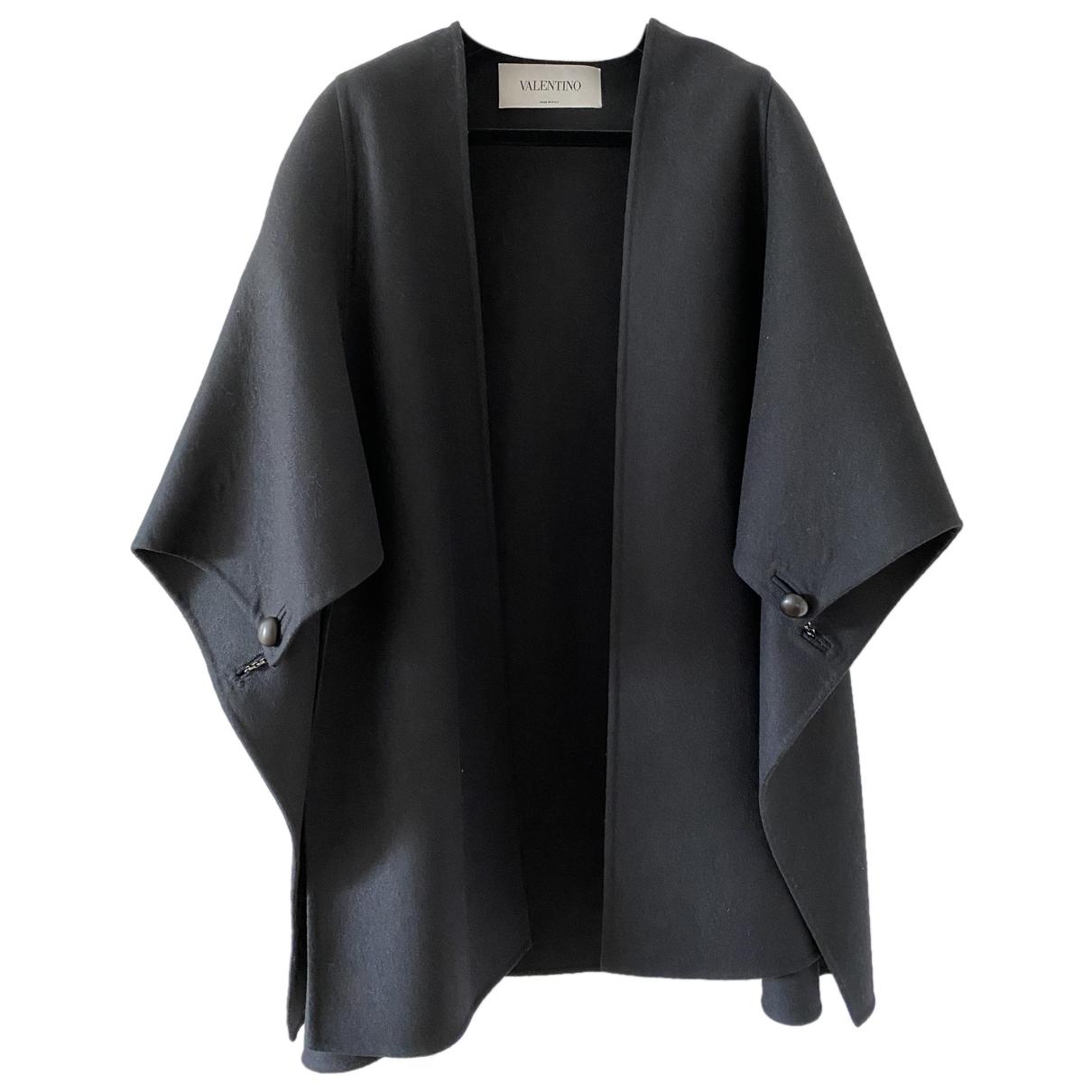 Valentino Garavani - Manteau   pour femme en laine - noir