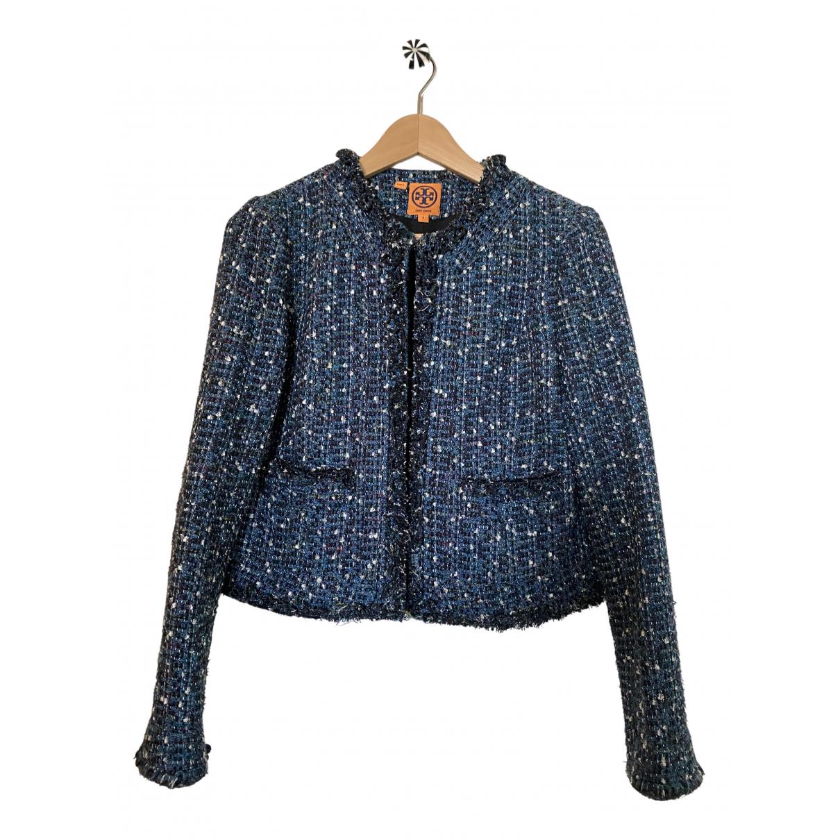 Tory Burch - Veste   pour femme en coton - bleu