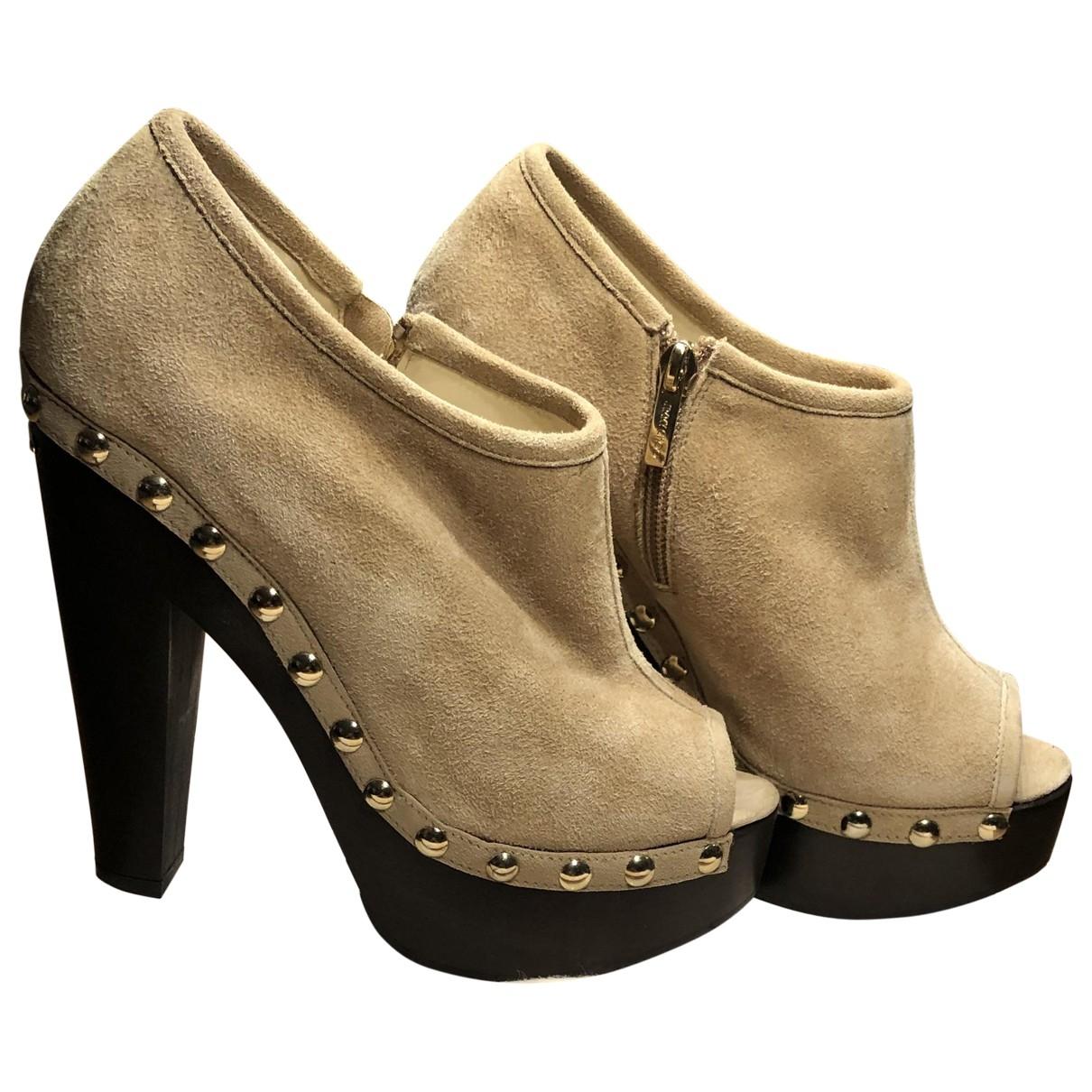 Jimmy Choo \N Beige Suede Ankle boots for Women 38.5 EU