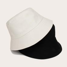 2pcs Guys Simple Bucket Hat