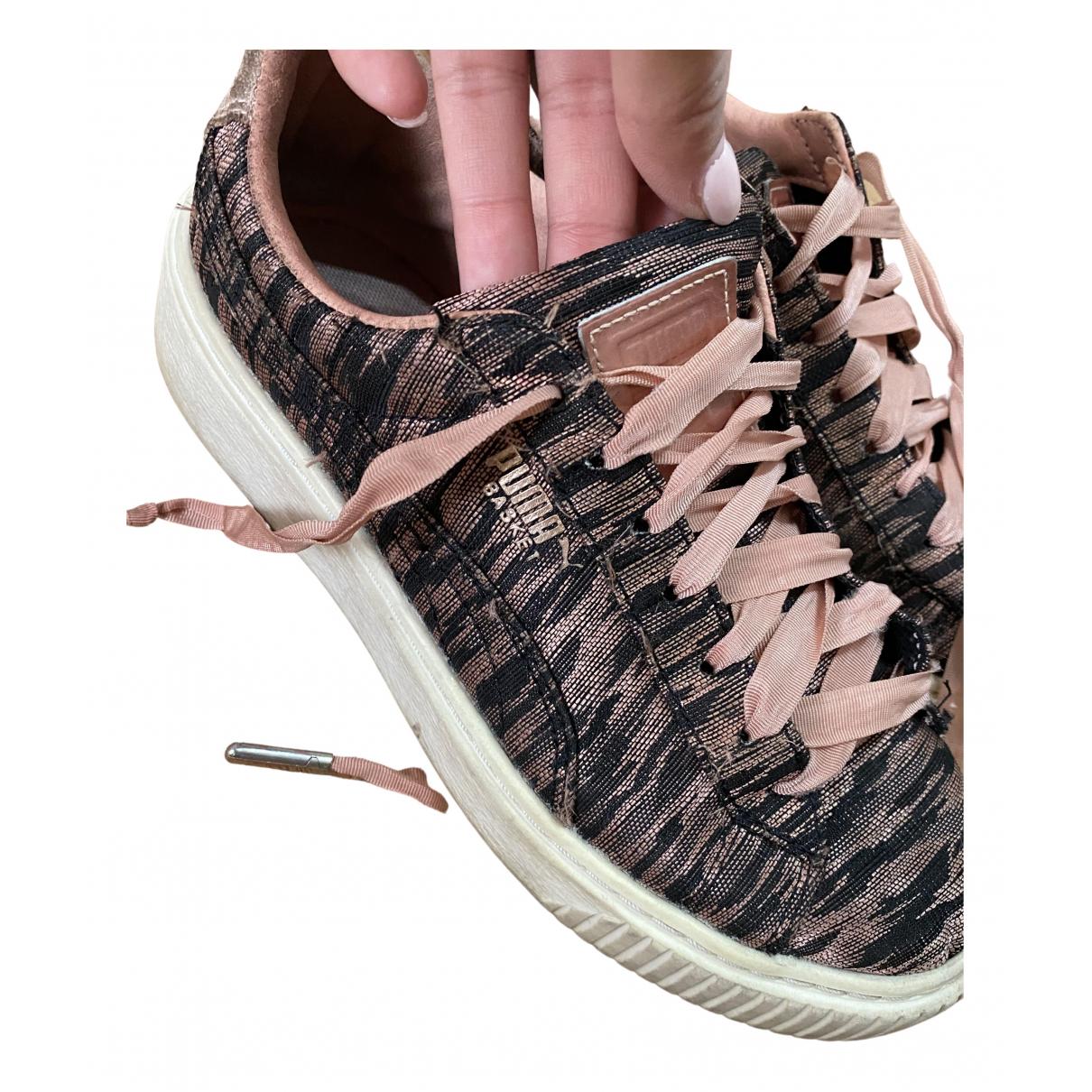 Fenty X Puma \N Sneakers in  Rosa Leinen