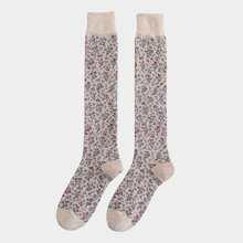 1pair Ditsy Floral High Socks