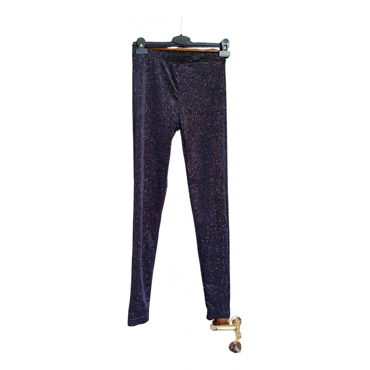 Zara \N Black Trousers for Women 40 IT