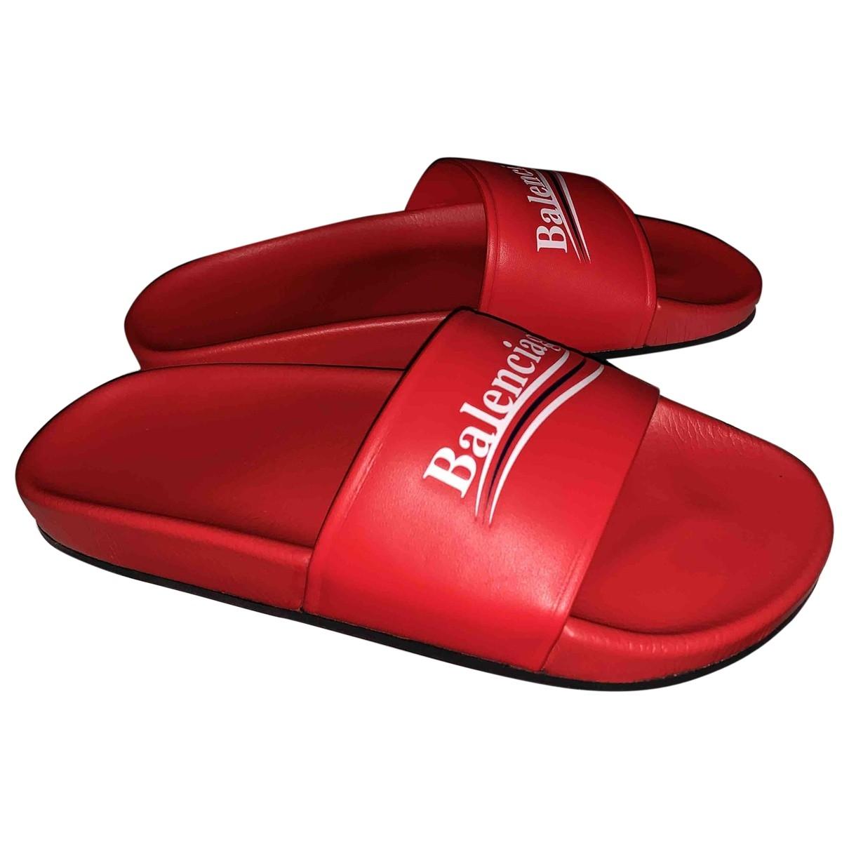 Balenciaga - Sandales   pour femme en cuir - rouge