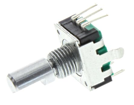 Bourns 18 Pulse Incremental Mechanical Rotary Encoder with a 6 mm Flat Shaft (Not Indexed), Through Hole