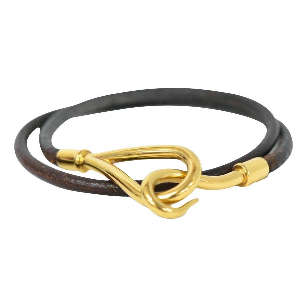 Hermes Jumbo Armband in  Braun Leder