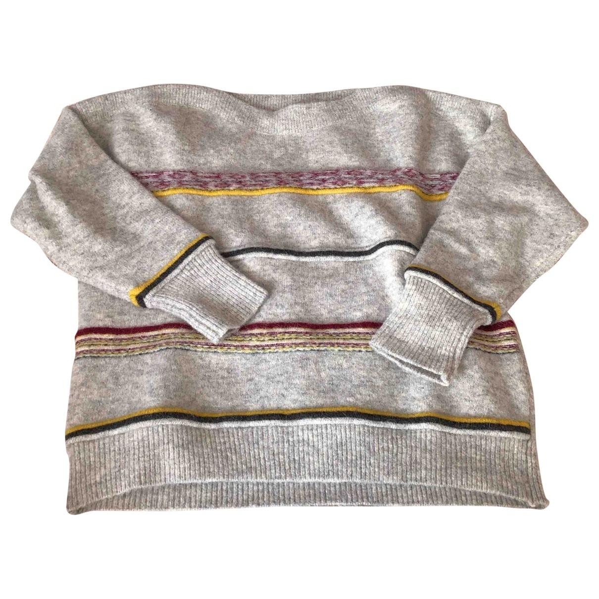 Sessun - Pull   pour femme en laine - gris