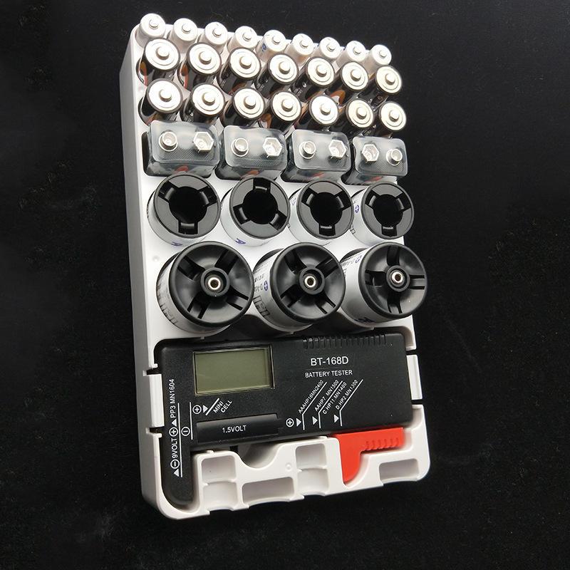AAA AA 9v D C Organizer Battery Test Storage Box