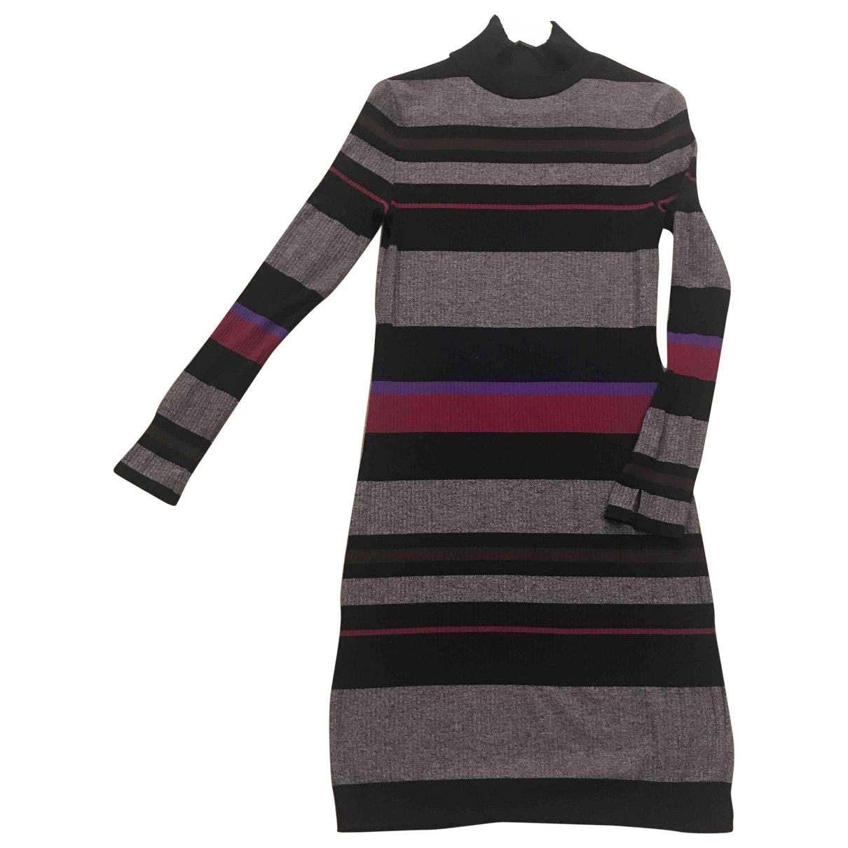 Massimo Dutti \N Kleid in  Bunt Baumwolle - Elasthan