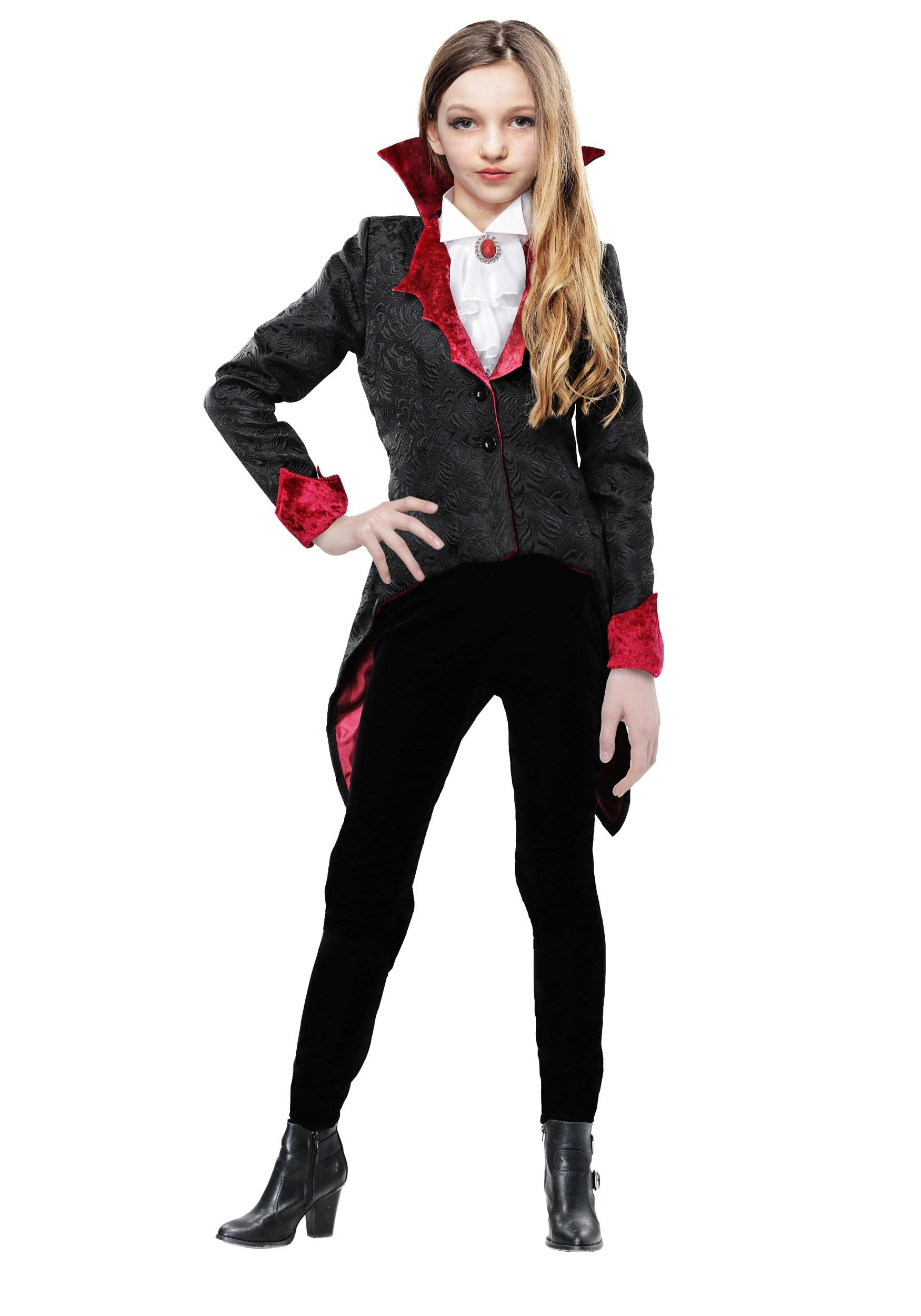 Girl's Dashing Vampiress Costume