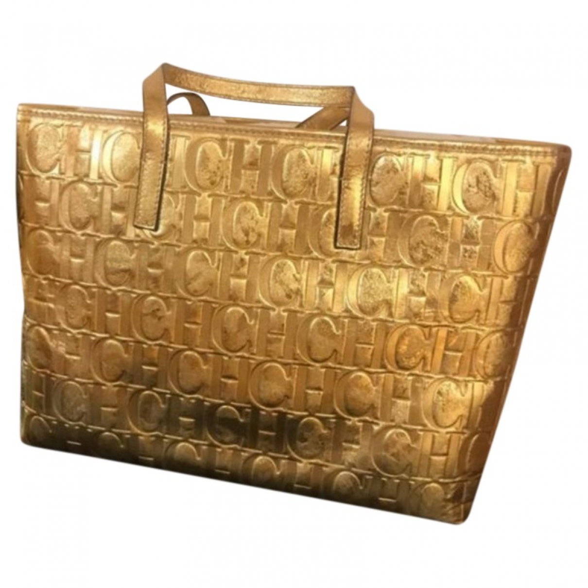 Carolina Herrera N Gold Leather handbag for Women N