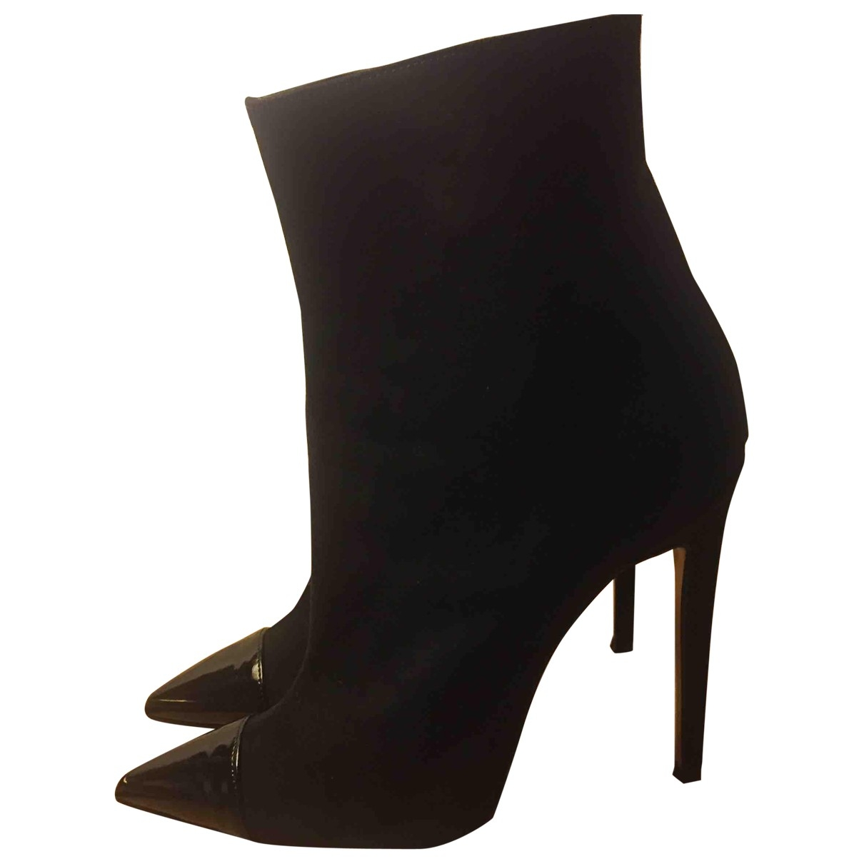 Non Signé / Unsigned \N Black Suede Ankle boots for Women 40 EU