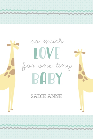 Baby + Kids 24x36 Adhesive Poster, Home Décor -Menagerie