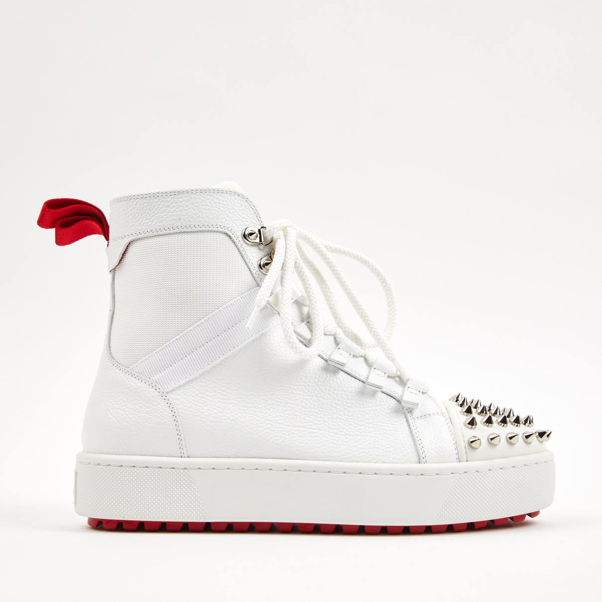 Christian Louboutin \N Sneakers in  Weiss Leder